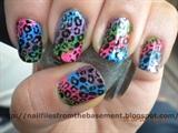 Multicolored Cheetah Nails