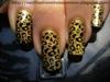 Gold Cheetah Nails
