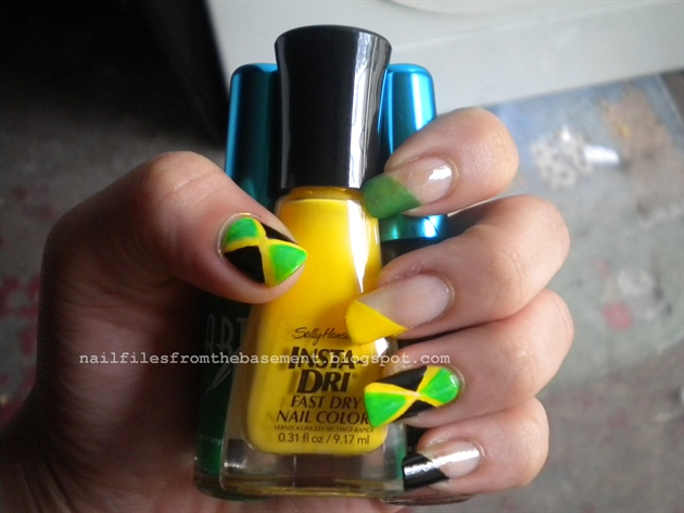 Jamaican Flag Nails Nail Art Gallery