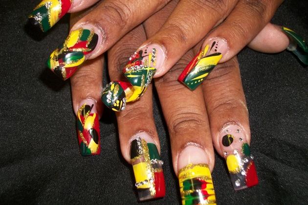 Jamaica Funk Nail Art Gallery