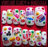 Vintage Candy Nails -False Set