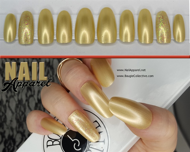 Champagne Gold False Nail set