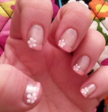Simple pink flowery french