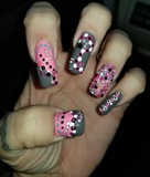 Pink/Grey with Rhinestones