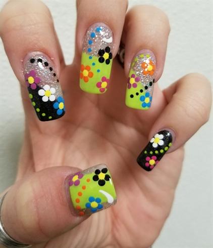 Multi colored flower design