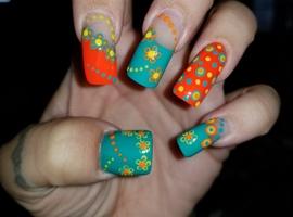 Orange/Teal/Yellow