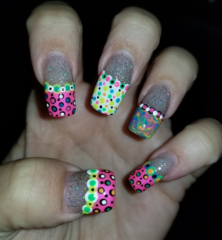 Fun polka dots and marble