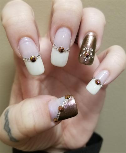 American French w/bronze/rhinestones #1