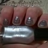 Metallic Taupe Nailart