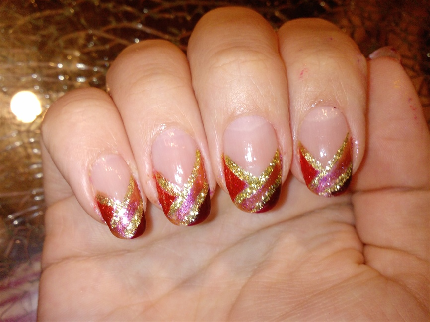 Fall Nail Designs French Manicure Papillon Day Spa