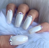White Chrome with Swarovski Crystals