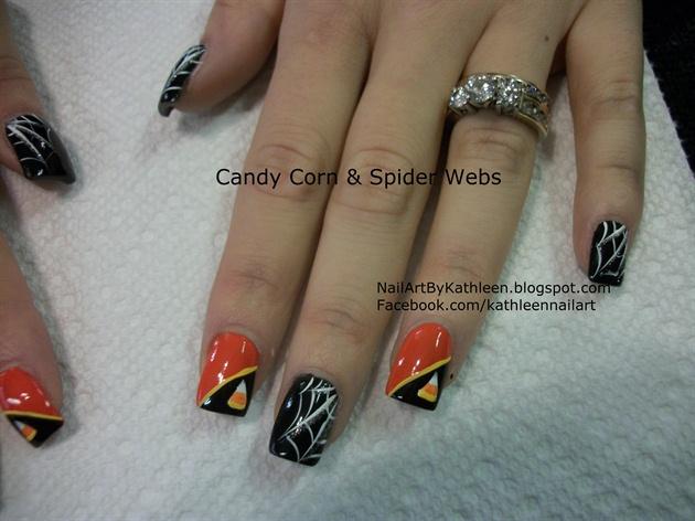 Candy Corn & Spider Webs