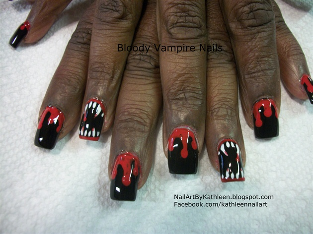 Bloody Vampire Nails