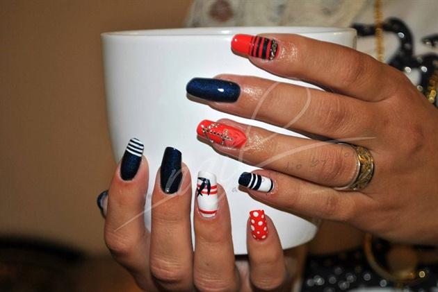 Nail Art Design Mix And Gellac Nail Art Gallery