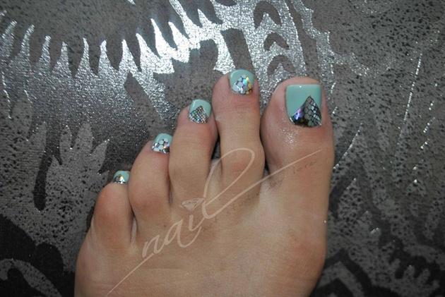 Color Gel Pedicure Nail Art Gallery