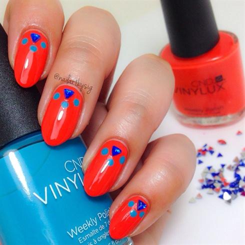 Electric Orange Manicure