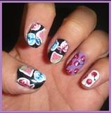 Moschino Inspired Nail Art