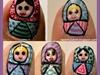 Russian doll nail art