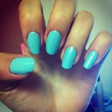 Turquoise Blue Nail Art Design