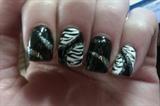 Zebra Glitter Print