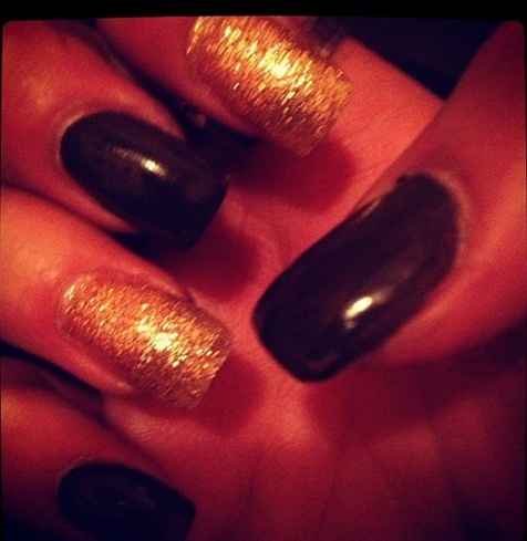 Gold and brown