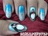 Frosty penguin nails !