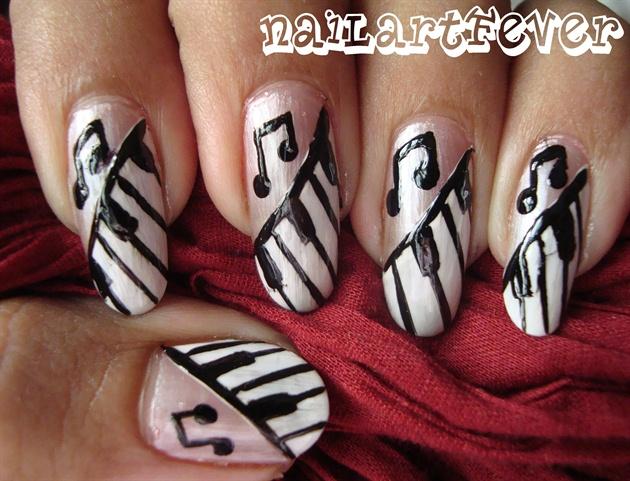 Piano nails nail art gallery piano nails prinsesfo Images