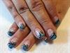 LCN turquoise nail art