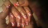 Polka Dot french with nail art tape