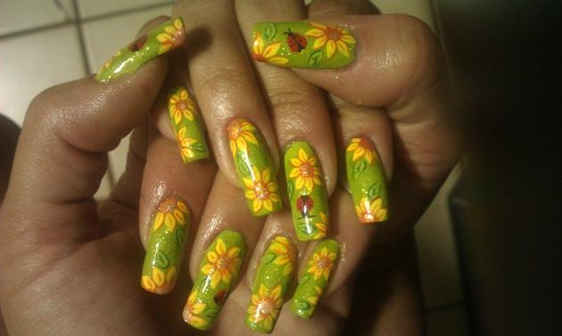 Sunflower Ladybug Summer