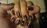 Sunbeams nail art