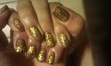 Golden flowers on Brown