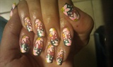 Tropical Flower Ombre design