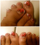 Red Flower on Toes