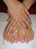 Medium Acrylic Nails & Toes