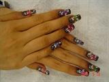 Long Acrylic 3d Nails