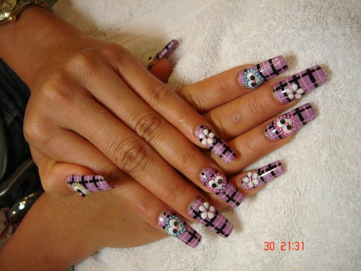 Long Acrylic Nails Nail Art Gallery