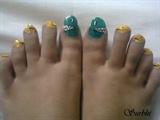 Toe nail art!