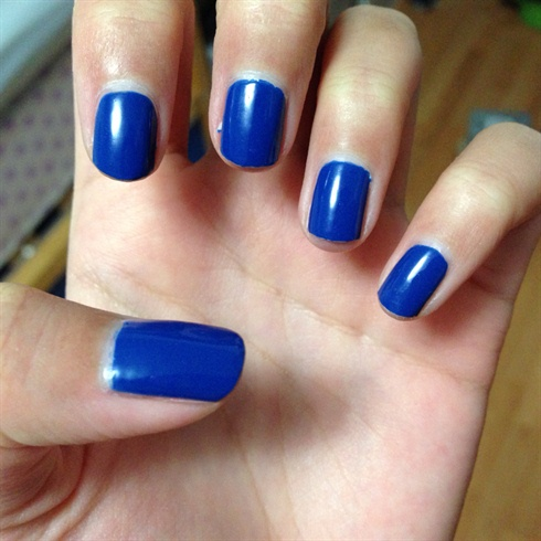 simple royal blue nails  nail art gallery