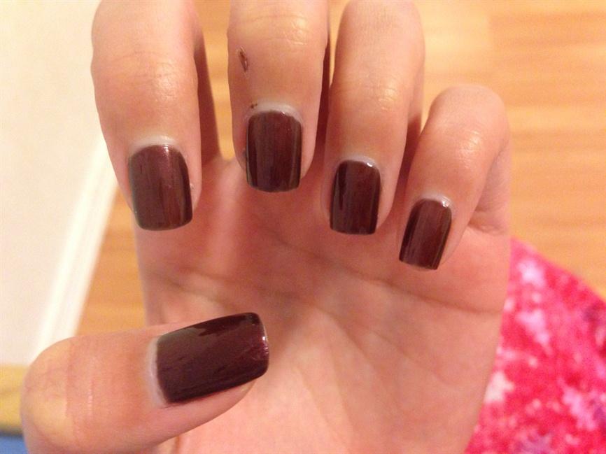 Reddish Brown Fall Nails - Nail Art Gallery