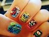 spongebob nail art