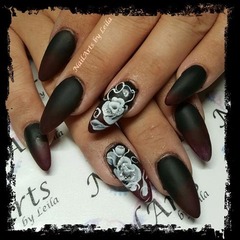 Sculpted acrylic nails