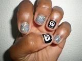 Skull and Glitter Nails