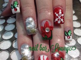 nail art: Oh so festive
