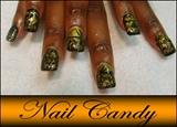 Black & Gold Swirl