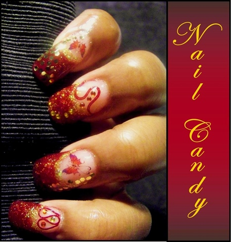 Red & Gold Whimsey