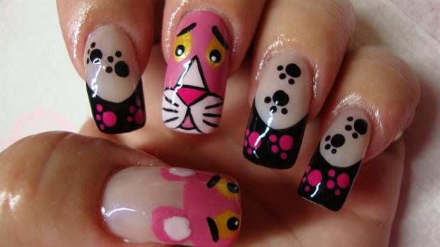 Pink Panther - Pink Panther - Nail Art Gallery