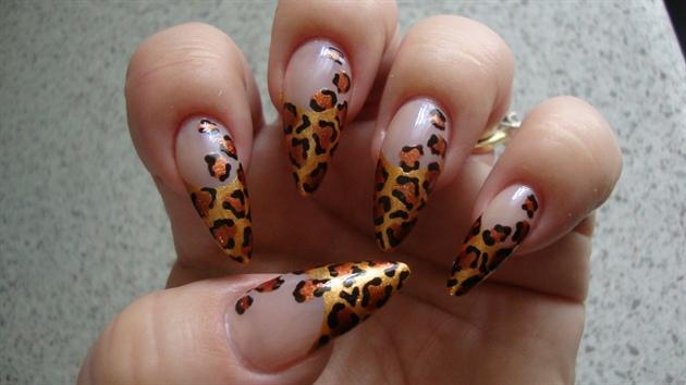 Gold Leopard Stiletto