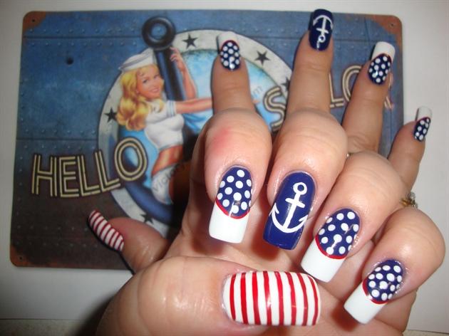 Sailor Pin Up Girl Nail