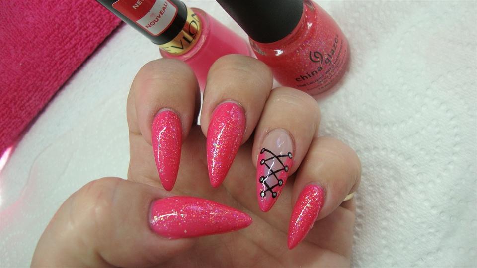 Yummy Pink Stiletto - Nail Art Gallery